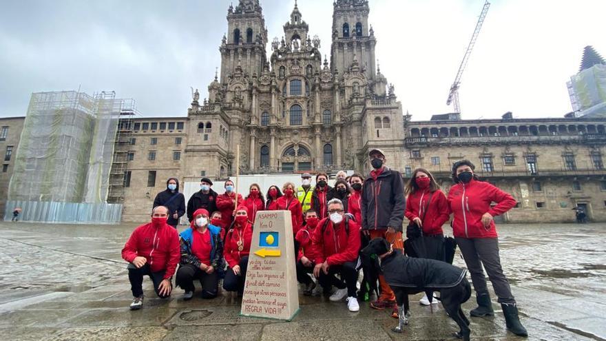 La Pontevedrada simbólica llega a la Praza do Obradoiro
