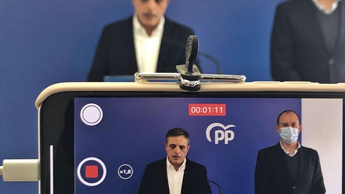 José Vicente Marí Bosó durante la rueda de prensa de ayer. | PP