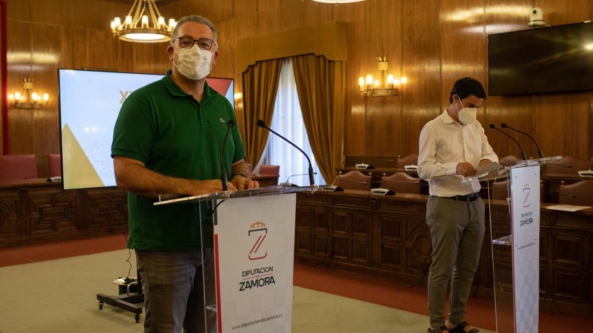 Jesús María Prada y Marco Antonio Martín durante la presentación