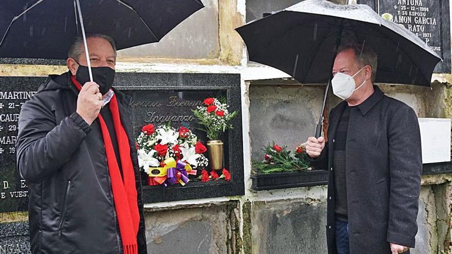Flores para Fernández Inguanzo en el 25.º aniversario de su muerte