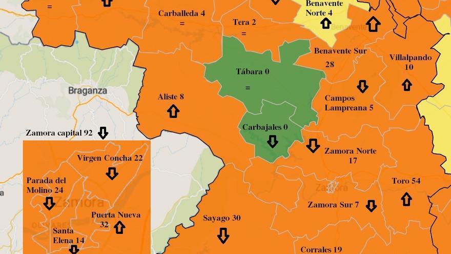 Evolución COVID en Zamora: Empeoran Benavente y Toro, mejora la capital