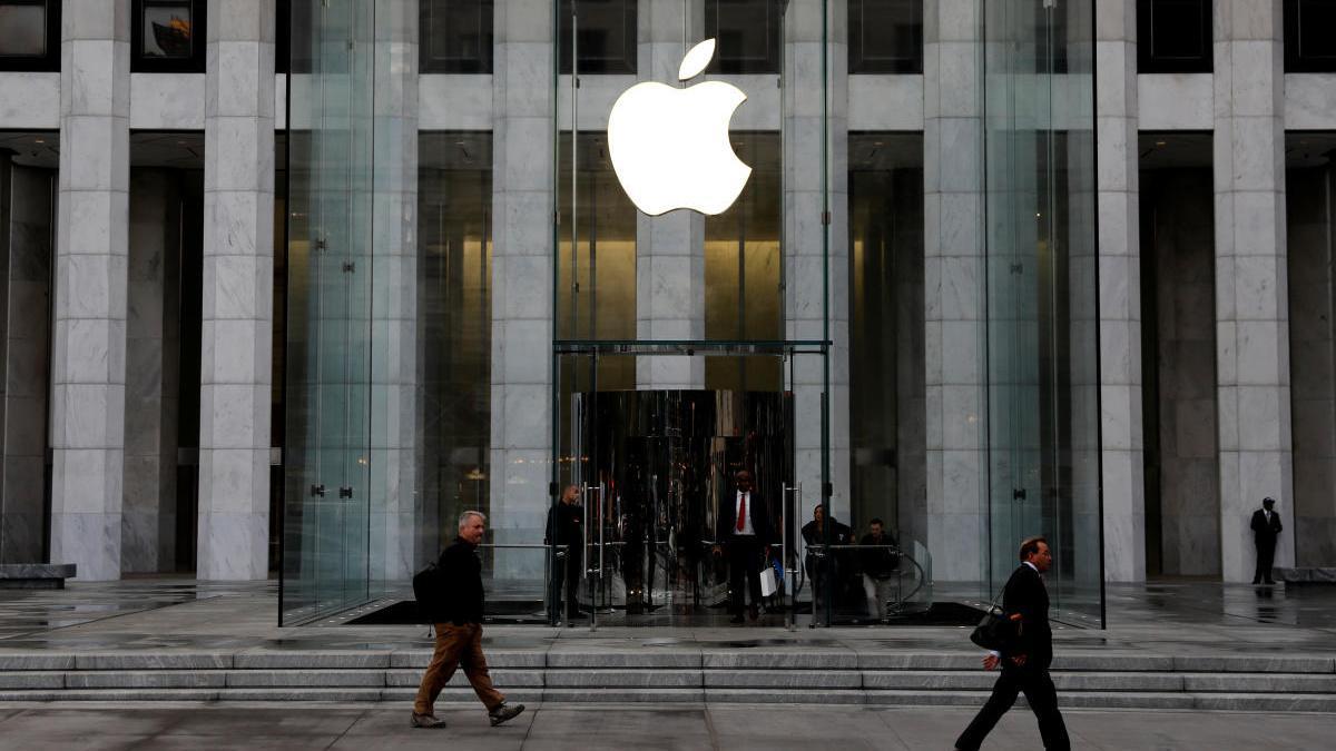 Una imagen de archivo de una tienda de Apple en Nueva York.