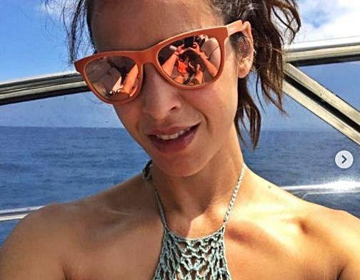 Paula Prendes en Ibiza.