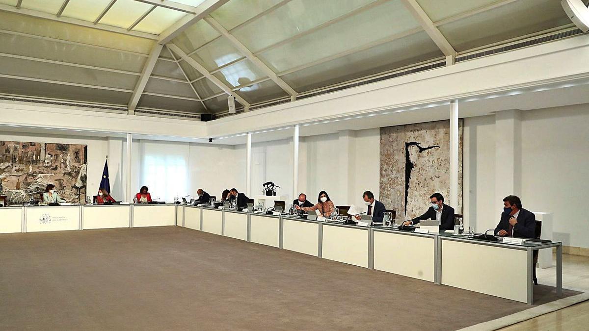 El Consell de Ministres celebrat ahir.    EUROPA PRESS
