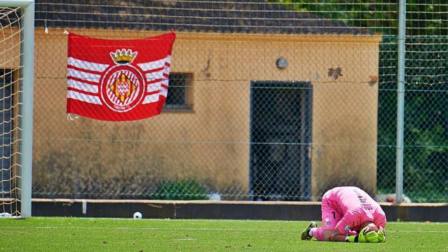 El Girona B deixa escapar l'ascens rebent dos gols al tram final de la pròrroga