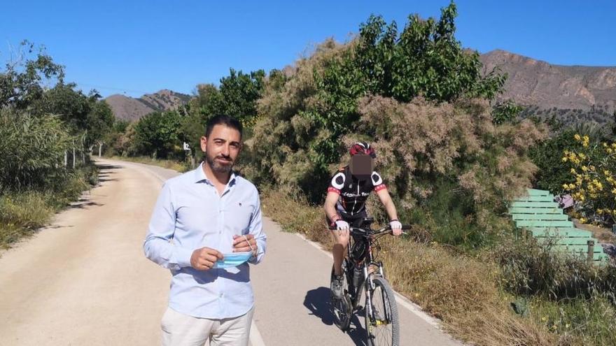 La CHS comienza a despejar de vegetación los carriles bici del río hasta Beniel