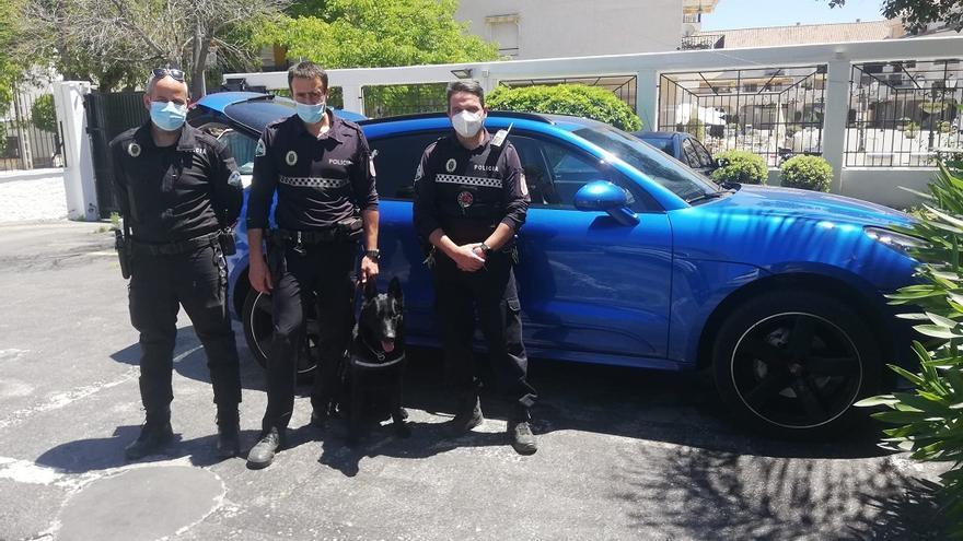 La Policía Local de Torremolinos recupera un Porsche Macan sustraído en Alemania