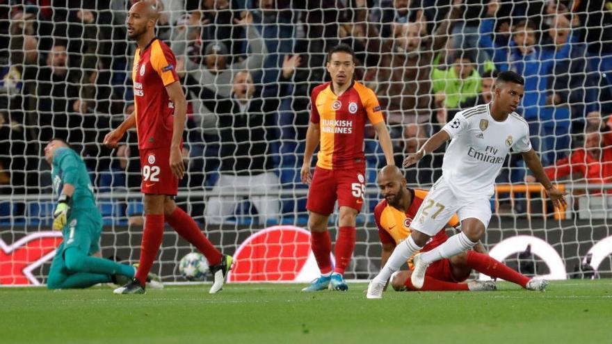 Hat-trick de Rodrygo en una noche plácida del Madrid