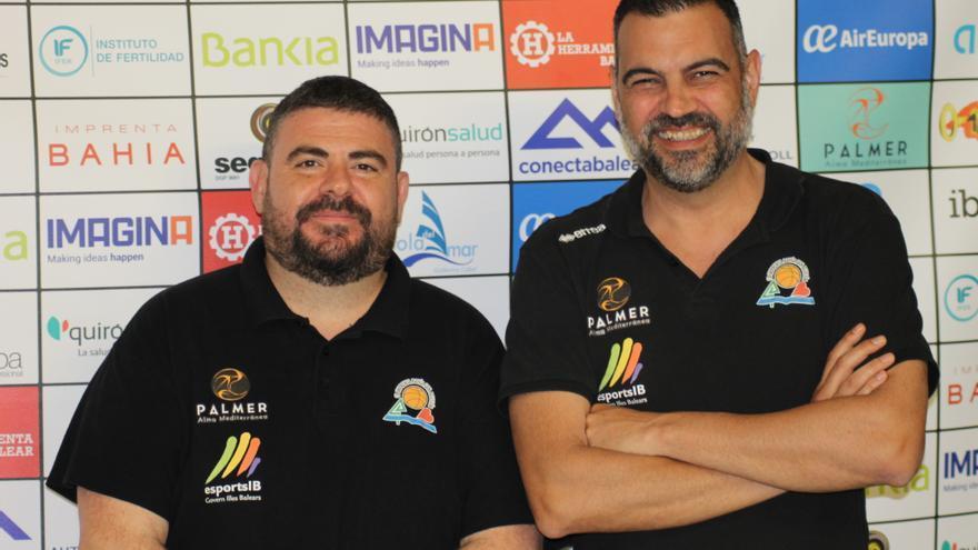 El Palmer Palma anuncia las renovaciones de los entrenadores Pau Tomàs y Álex Pérez