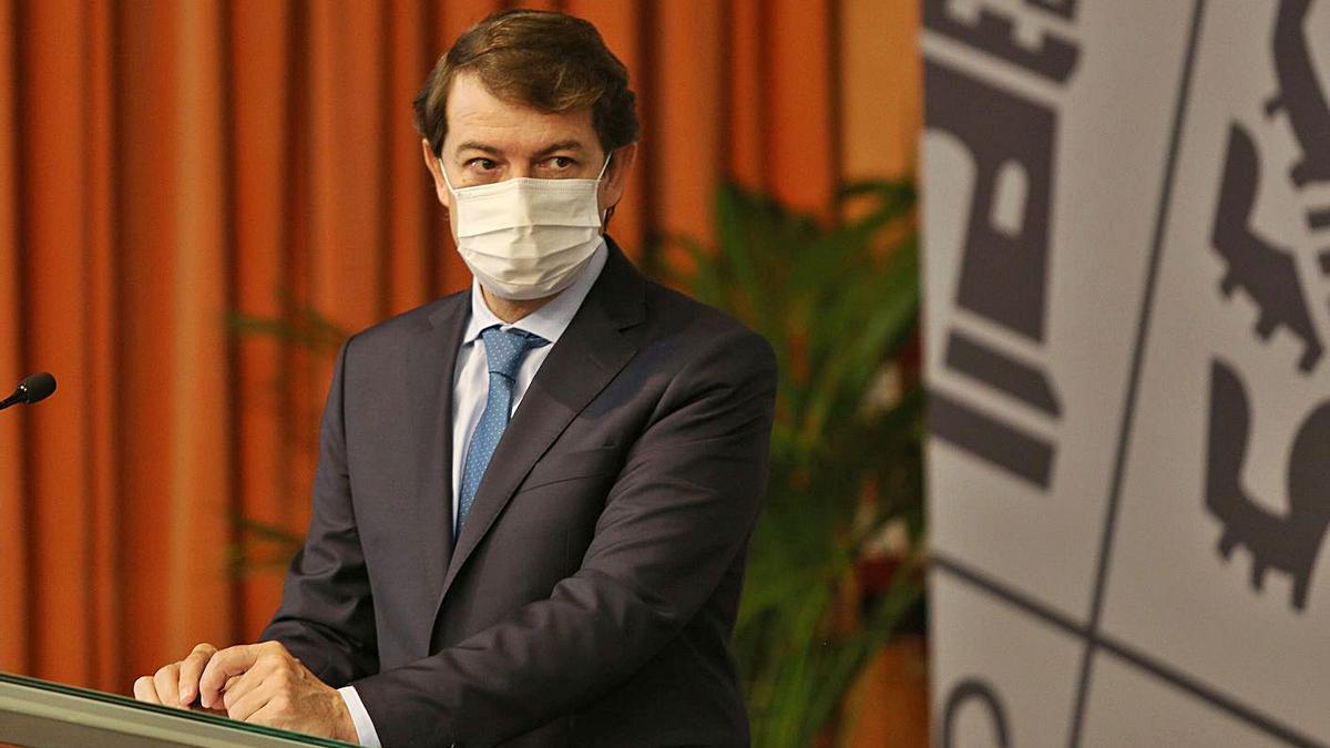 Fernández Mañueco, durante un acto celebrado la semana pasada en Palencia. | Ical