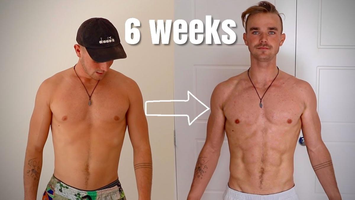 """El antes y el después de Laurie Shaw tras seguir la rutina de ejercicios de """"Thor""""."""