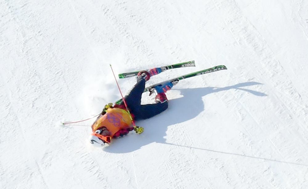 Caída de Christopher Delbosco de Canadá en Juegos