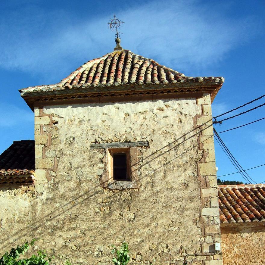 Detalle de la cabecera de la iglesia parroquial de Sesga. Siglos XVI-XVII.