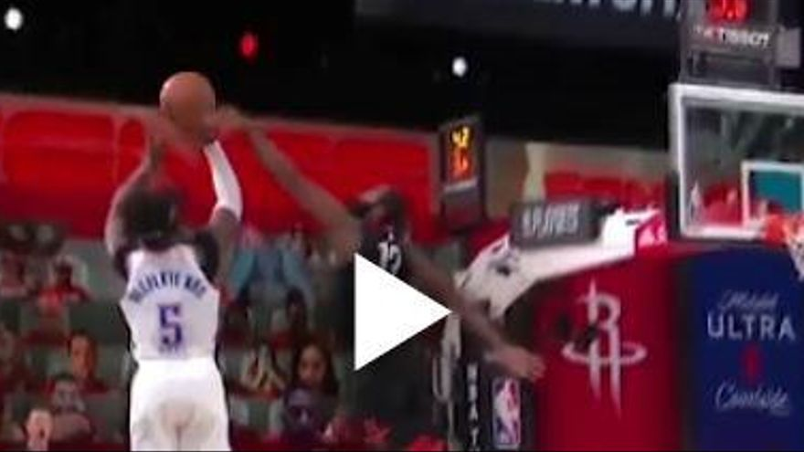 Video   El tapón de Harden que clasifica a los Rockets