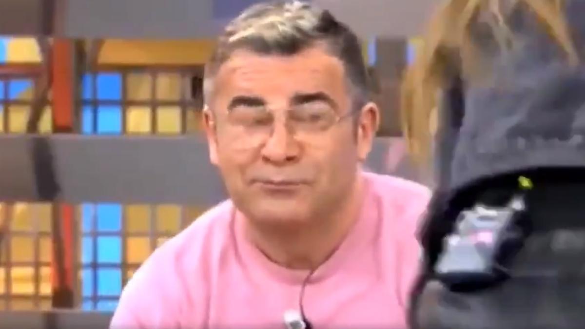 Jorge Javier, con cara de circunstancias, tras la expulsión de Laura Fa.
