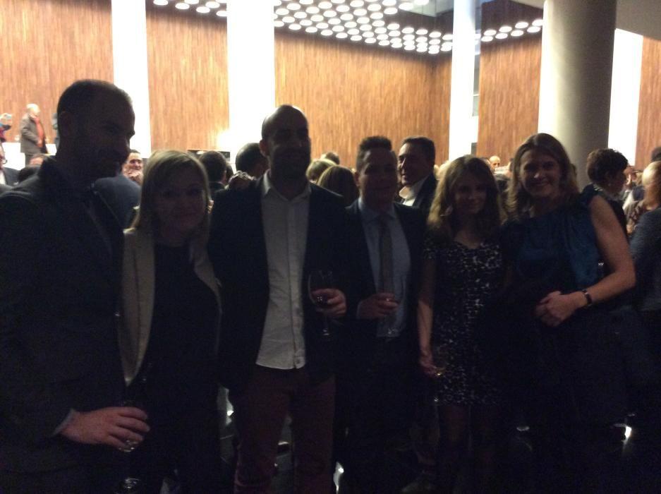 José Antonio Mas, María Pomares, Emilio Martínez, Iván Jiménez y Ana Fajardo, redactores de INFORMACIÓN, con María Andreu del departamento de prensa del Ayuntamiento de Elche
