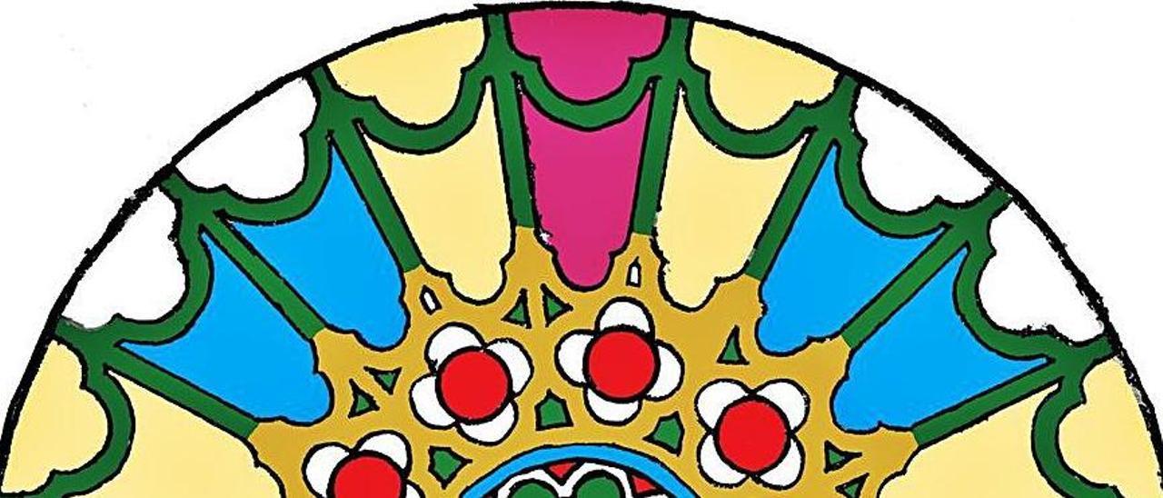 Detalle de la alfombra floral que realizarán en Burgos.