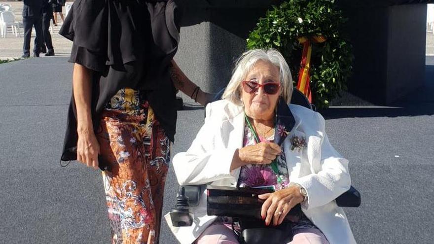 Emilia Nájera representa a Aragón en el homenaje a las víctimas de la pandemia