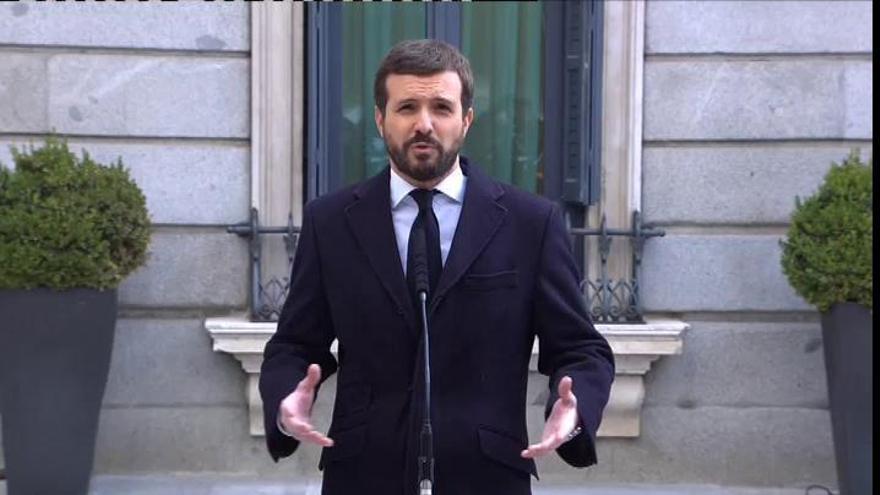 """Casado llama a la unión de los moderados frente a los """"enemigos de la nación"""""""