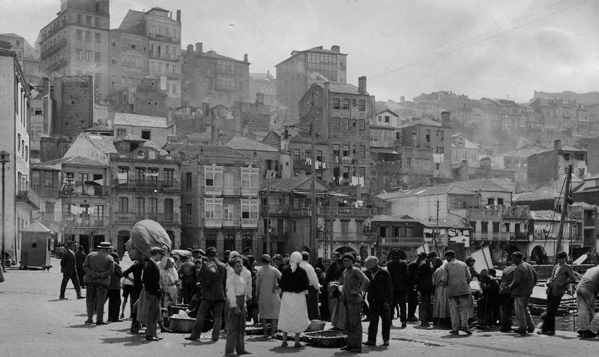 Pescadores en O Berbés 1920 -1936