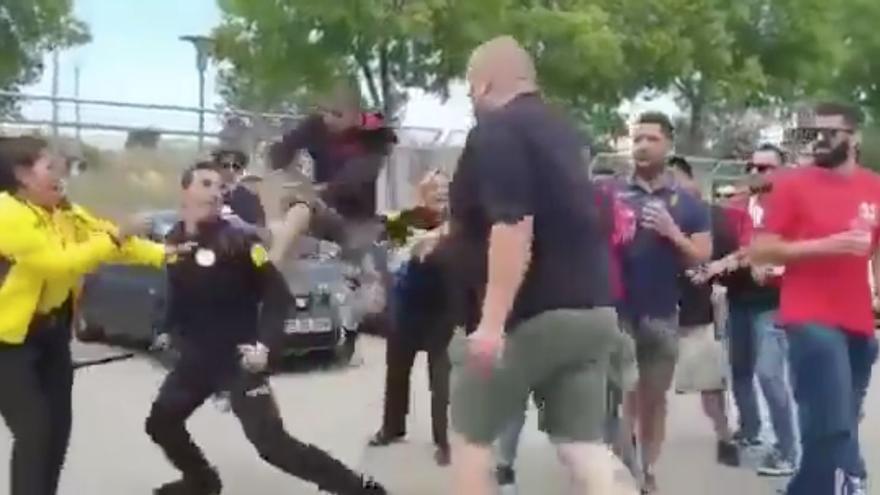 Así fue la agresión de un ultra del Mallorca a un vigilante en Son Moix