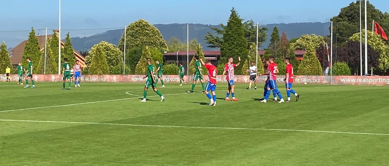 Berto celebra su segundo gol en Mareo.