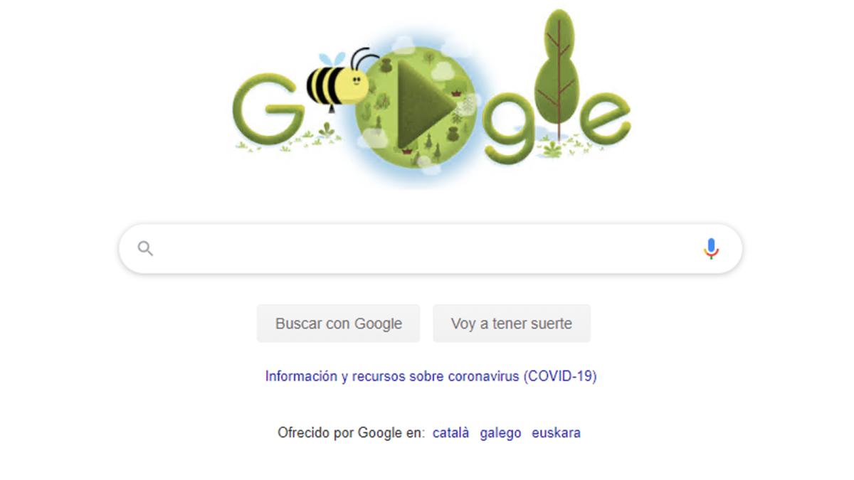 Google dedica su doodle al día de la Tierra.