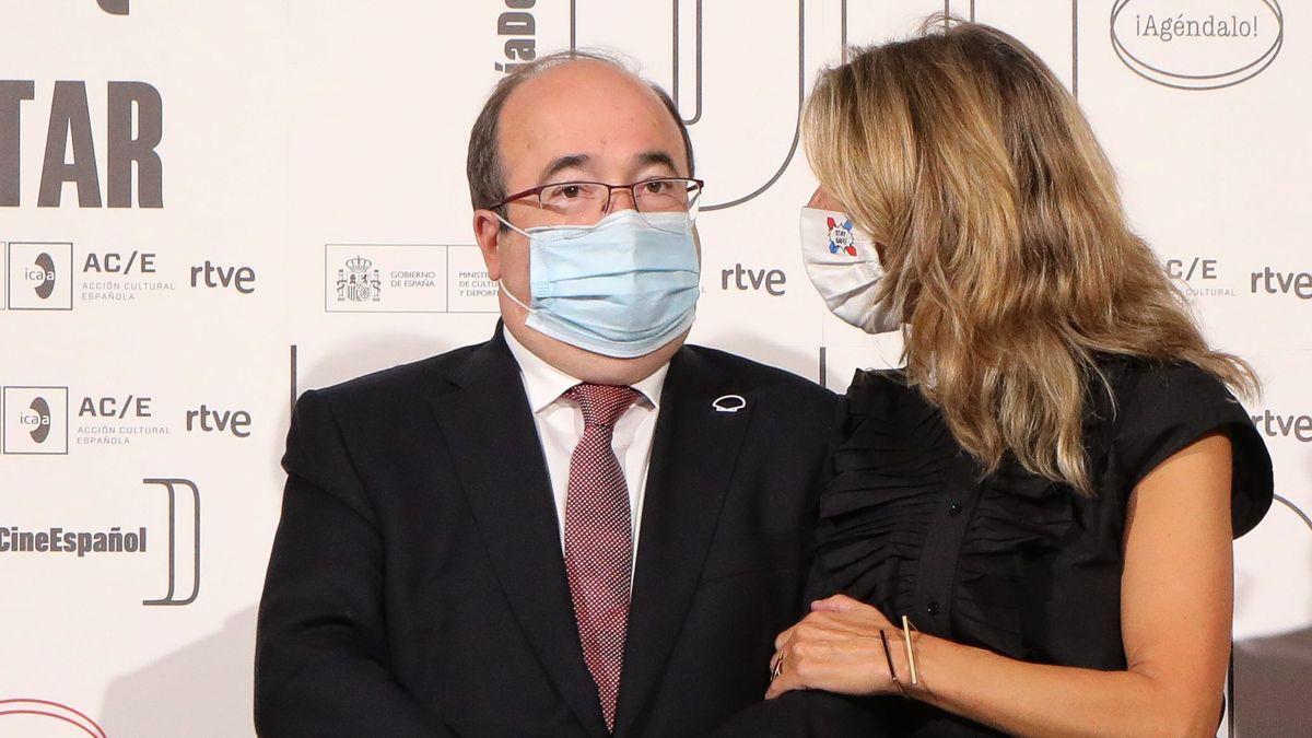 Miquel Iceta y Yolanda Díaz.