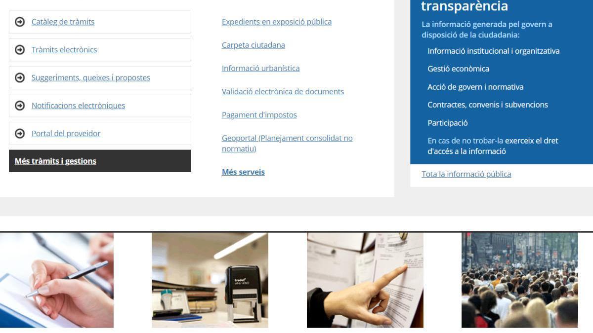 Mentre duri l'avaria al web, s'ha habilitat un portal alternatiu.