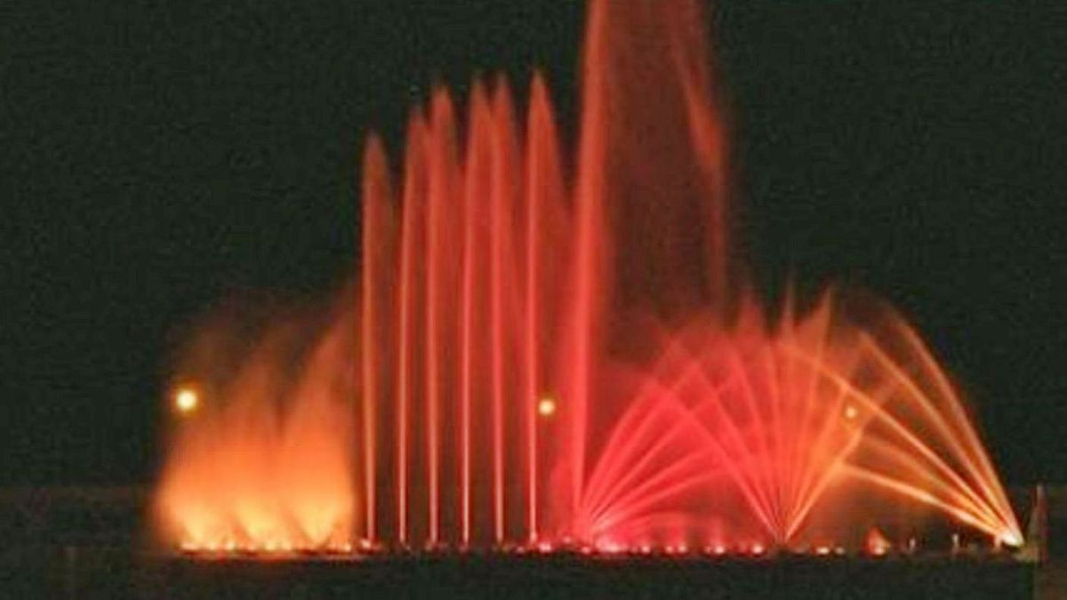 Espectáculo de agua, luz y color en la Navidad de 1994.  | | E.D.