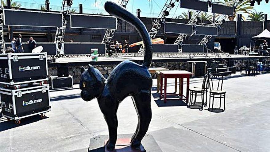 El carnaval de Telde recupera el gato negro para el escenario de la gala drag