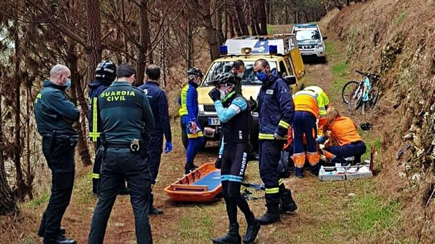 Herido un ciclista en un monte llanisco | SEPA