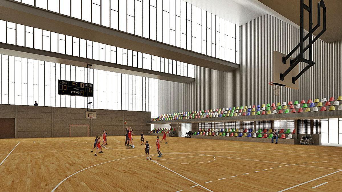 Figuración del nuevo pabellón de San Isidro.   LEVANTE-EMV