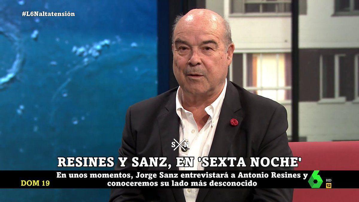 Antonio Resines, in & # 039; La Sexta Noche & # 039 ;.