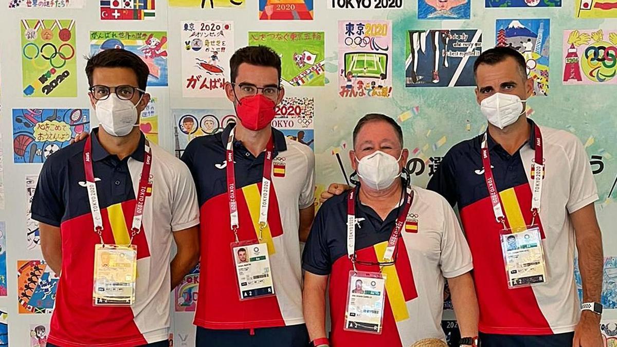 Miguel Ángel López, Álvaro Martínez, José Antonio Carrillo y Luis Manuel Corchete. | L.O.