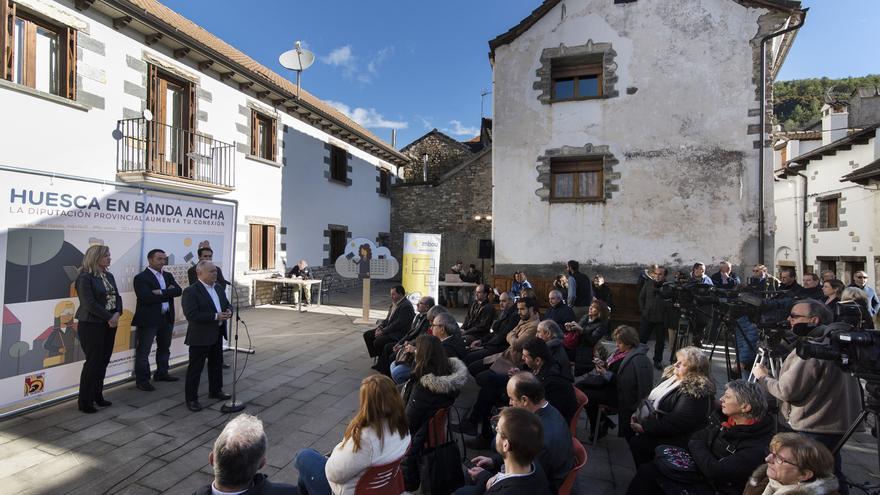 La conectividad se extiende por la provincia de Huesca impulsada por la DPH