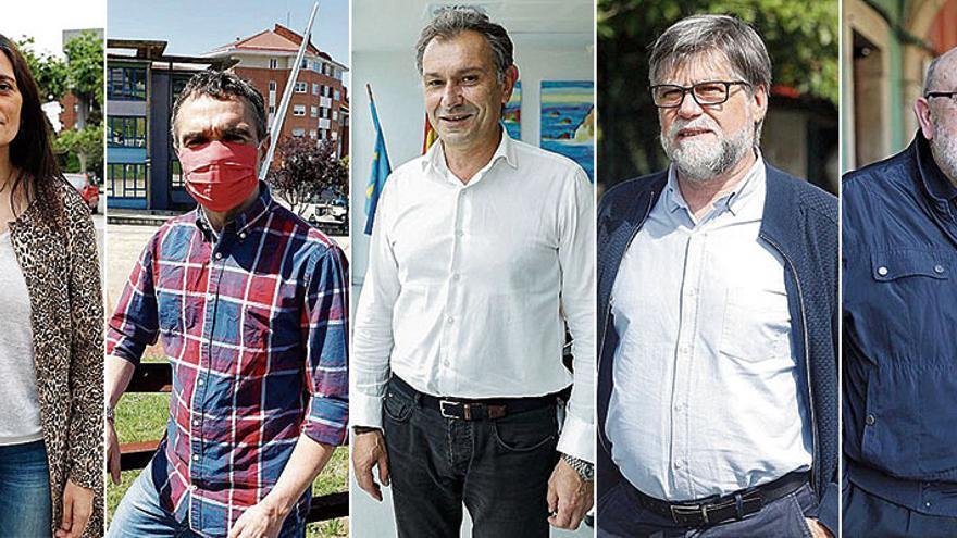 Cinco alcaldes a mitad de mandato: los regidores de la comarca avilesina repasan los logros en sus concejos en dos años de liderazgo