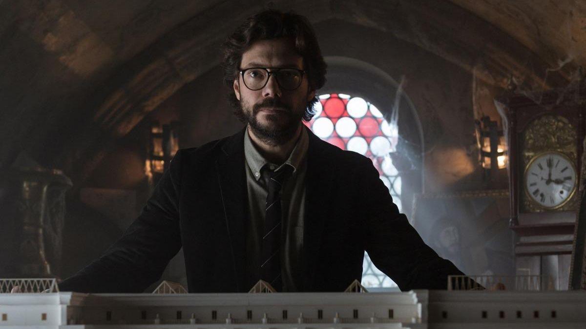 Álvaro Morte, como 'El profesor' en 'La Casa de Papel'.