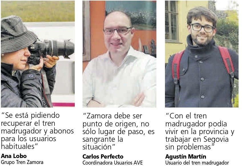 Usuarios del AVE en Zamora