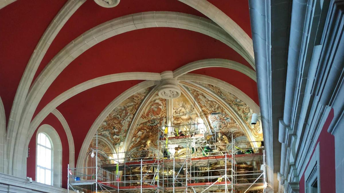 Acaba la restauració del retaule major del Santuari del Miracle de Riner, obra icònica d'art barroc