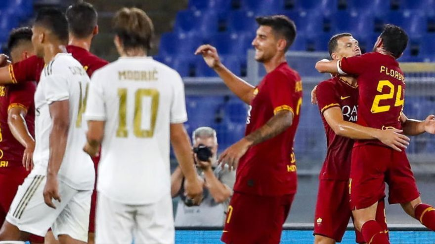 Un Madrid vulnerable cae ante la Roma en los penaltis