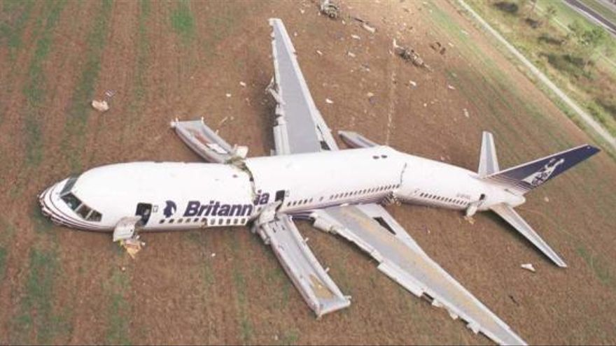 El dia que un avió es va partir en tres a l'aeroport de Girona