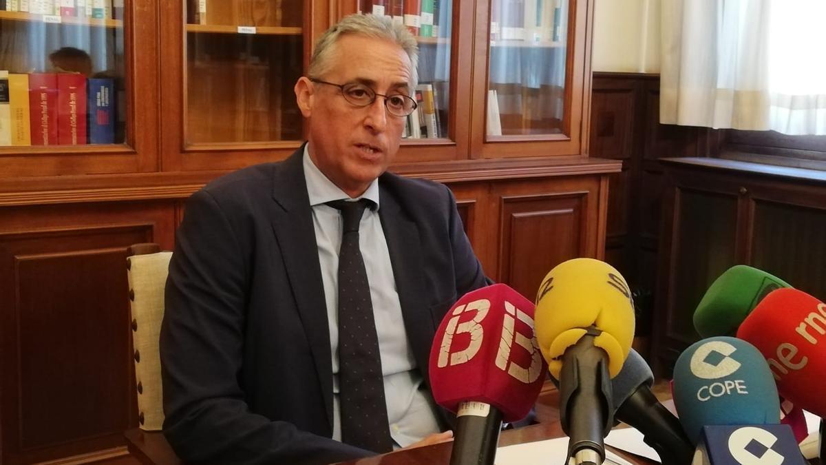 """Gómez-Reino destaca frente al CGPJ la celebración de juicios en Baleares en un """"único estado virtual"""""""