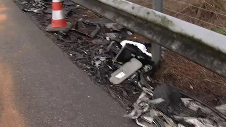 Dos muertos en una colisión en Asturias provocada por un kamikaze en sentido contrario