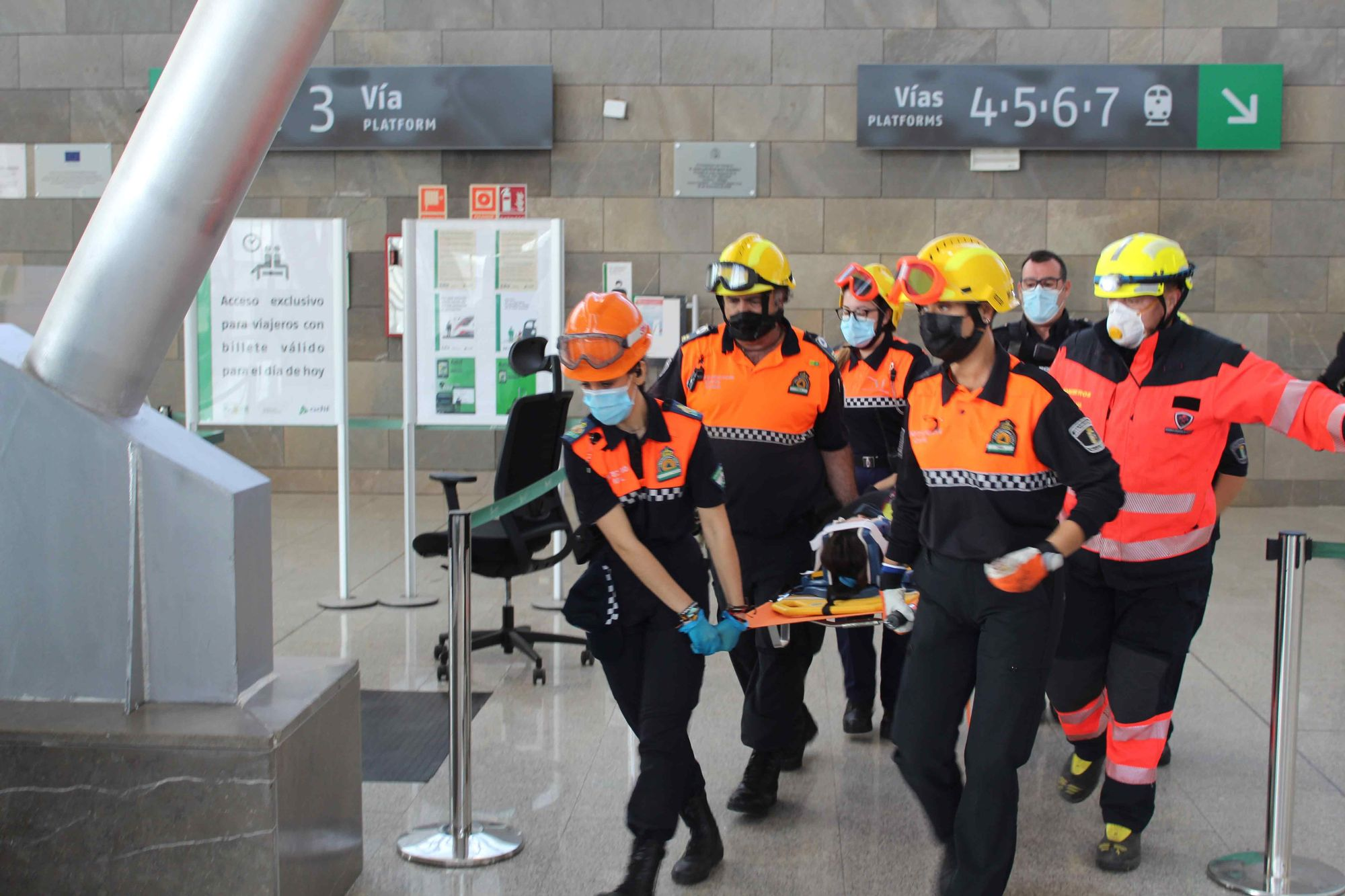 Málaga acoge la primera jornada de 'RespuestA21', un simulacro de catástrofe sin precedentes en Andalucía