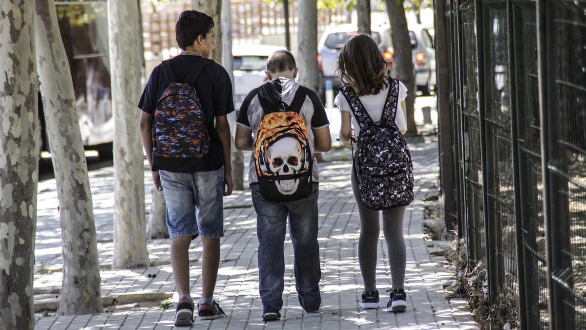 Imagen de archivo de estudiantes en los accesos de Instituto de Torrevieja