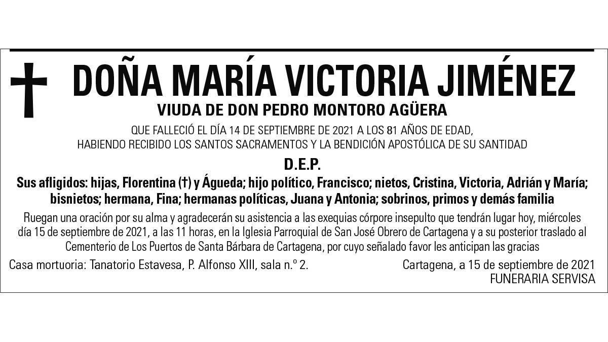 Dª María Victoria Jiménez
