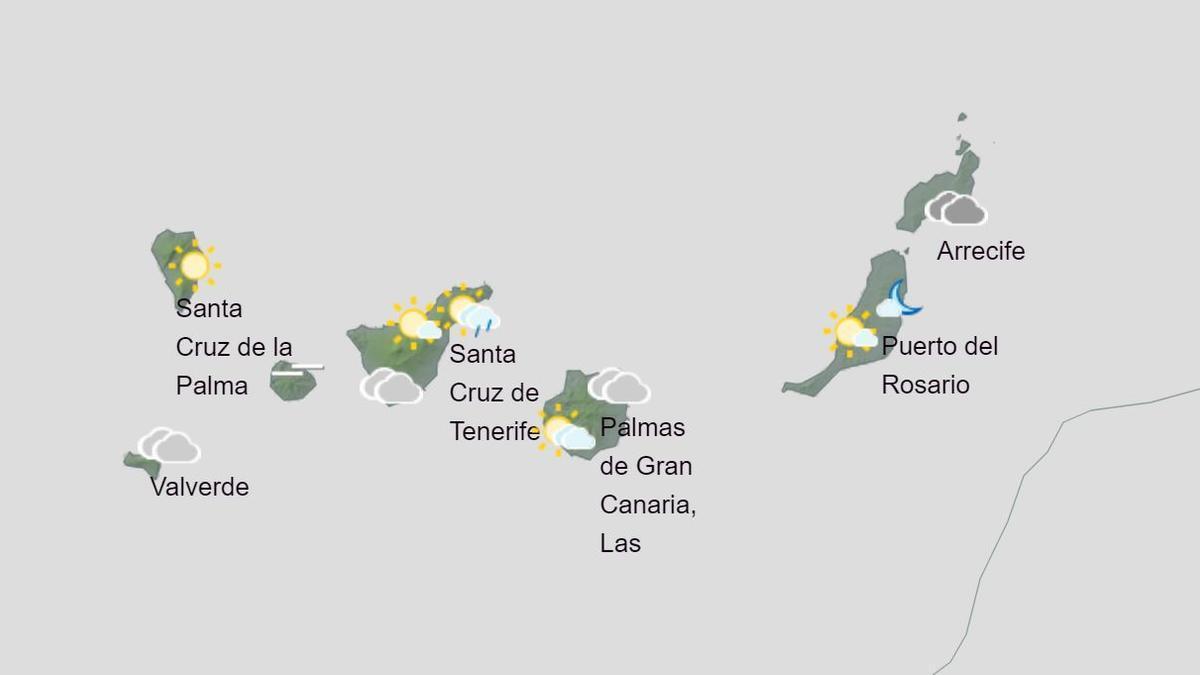 Previsión del tiempo en Canarias para el martes, 8 de diciembre de 2020