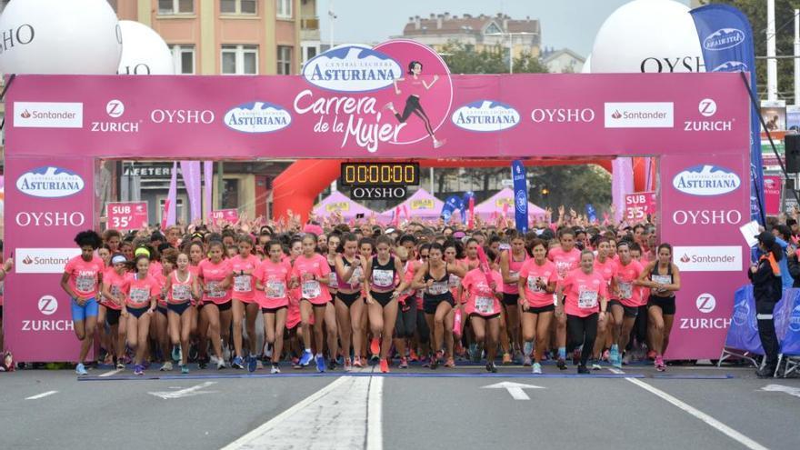 Sofía Fernández, la más rápida de la marea rosa por A Coruña