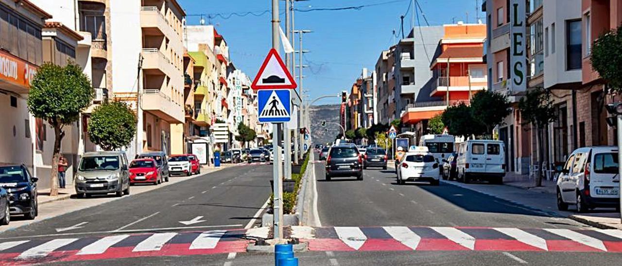 La avenida Mediterráneo de Teulada Moraira   CARLOS LÓPEZ